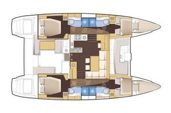 Sailing catamaran Evi - Interior layout