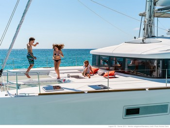 Sailing catamaran Nicolas - The foredeck