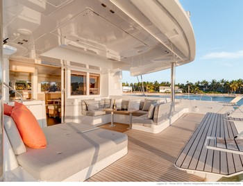 Sailing catamaran Nicolas - The aft deck