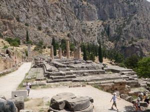 Ancient Delphi - The temple of Apollo