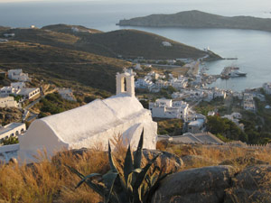 Cyclades - anchored in a bay