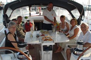 Sailing yacht Mythos II - cockpit
