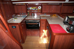 Sailing yacht Mythos II - galley