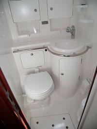 Sailing yacht Mythos II - bathroom