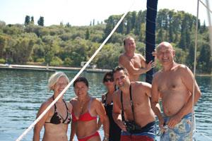 Share a yacht - anchored in a bay