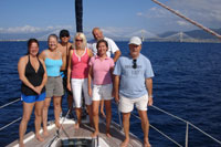 Share a yacht - photo on the bow