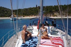 Whole yacht booking - sunbathing